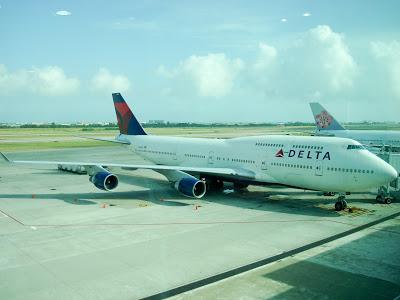 往成田的達美DL276波音747