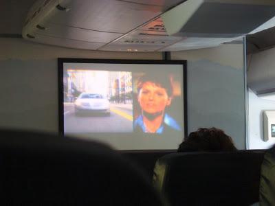 達美飛機電影上竟然有廣告!