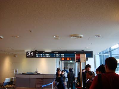 在成田準備登機