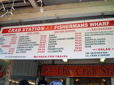 螃蟹攤的價目表